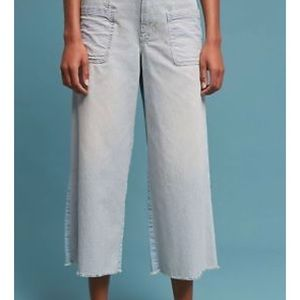 Anthropologie high rise wide leg crop pants 29